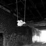 Frieda BK - Trapeze under the Petit Ceinture, Paris (photo: Acey Harper)