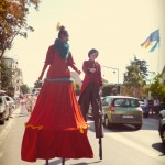 Johanna Rebolledo & Frieda BK - Stilt-walking